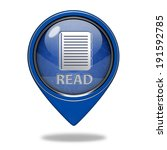 read pointer icon on white...   Shutterstock . vector #191592785