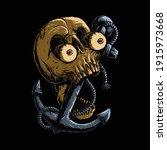 skull anchor horror graphic... | Shutterstock .eps vector #1915973668