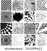 set of stripes spirals and... | Shutterstock .eps vector #191599412