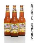 Small photo of IRVINE, CA - JUNE 1, 2015: Three bottles of Leinenkugel Summer Shandy. Leinenkugel was founded in Chippewa Falls, WI, in 1867 by Jacob Leinenkugel.