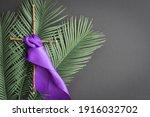 Cross With Purple Sash And...