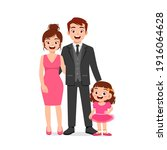 cute little girl with mom and...   Shutterstock .eps vector #1916064628
