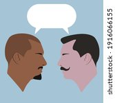 dialogue of two guys. men. two...   Shutterstock .eps vector #1916066155