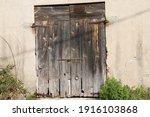 Ancient Dilapidated Door With...