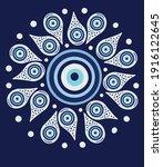 mandala greek evil eye vector   ... | Shutterstock .eps vector #1916122645