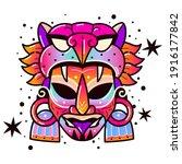 maya culture mask. ethnic...   Shutterstock .eps vector #1916177842