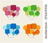 speech bubbles set | Shutterstock .eps vector #191619356