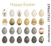 happy easter. large collection...   Shutterstock .eps vector #1916199865