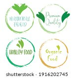 set leaf symbol vector icon... | Shutterstock .eps vector #1916202745