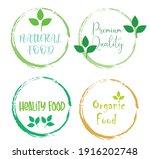 set leaf symbol vector icon... | Shutterstock .eps vector #1916202748