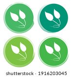 set leaf symbol vector icon... | Shutterstock .eps vector #1916203045