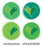 set leaf symbol vector icon... | Shutterstock .eps vector #1916203048