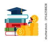 graduation cost  expensive... | Shutterstock .eps vector #1916258828