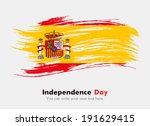 flag of spain | Shutterstock .eps vector #191629415