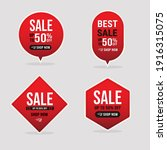 collection of sale banners in...   Shutterstock .eps vector #1916315075