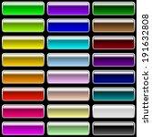 set of glossy rectangular...   Shutterstock . vector #191632808