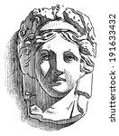 antique woman mask   Shutterstock . vector #191633432