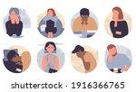 people in depression vector... | Shutterstock .eps vector #1916366765