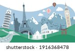 travel around the world of... | Shutterstock .eps vector #1916368478