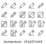 set of outline vector icons...   Shutterstock .eps vector #1916371445