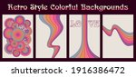 retro style colorful... | Shutterstock .eps vector #1916386472