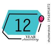 12 years anniversary... | Shutterstock .eps vector #1916391872