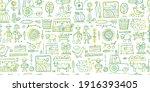 organic farm seamless pattern... | Shutterstock .eps vector #1916393405
