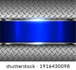 technology metal background  3d ... | Shutterstock .eps vector #1916430098