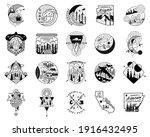 camping adventure badge designs ... | Shutterstock .eps vector #1916432495