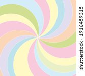 multicolored pastel swirl... | Shutterstock .eps vector #1916459315
