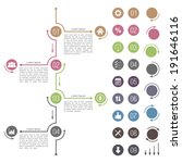 timeline design elements set ...