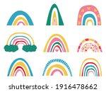 set of rainbow  vector... | Shutterstock .eps vector #1916478662