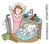 panier,occupé,corvée,plats,ménage,femme au foyer,blanchisserie,de nombreux,maman,submerger,une écrasante,a souligné,groupe de travail,trop,vide