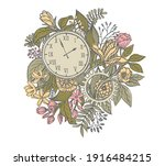 time passes and nature lives on....   Shutterstock .eps vector #1916484215