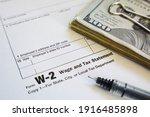 W 2 Tax Form With Fine Point...