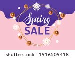 abstract design of spring sale... | Shutterstock .eps vector #1916509418