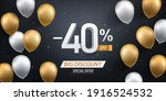 forty percent discount. gold... | Shutterstock .eps vector #1916524532