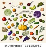 vector illustration of a set of ... | Shutterstock .eps vector #191653952