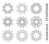set of light rays  sunburst and ...   Shutterstock .eps vector #1916543648