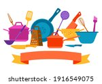 background with kitchen...   Shutterstock .eps vector #1916549075