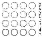 set of circular arabic round... | Shutterstock .eps vector #1916551928