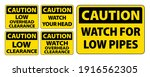 caution clearance sign... | Shutterstock .eps vector #1916562305