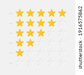 rating stars icons set vector...