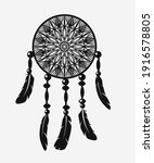 Dreamcatcher With Feathers In...