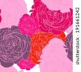 flower pattern seamless  eps 10   Shutterstock .eps vector #191661242