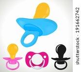 baby pacifier | Shutterstock .eps vector #191662742
