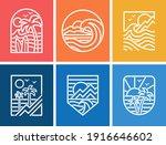 set of line style vector... | Shutterstock .eps vector #1916646602