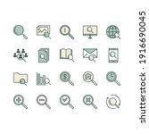 search line icons. set... | Shutterstock .eps vector #1916690045