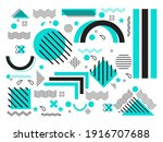 collection of geometric shapes. ... | Shutterstock .eps vector #1916707688
