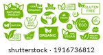 set of organic  eco  vegan  bio ...   Shutterstock .eps vector #1916736812